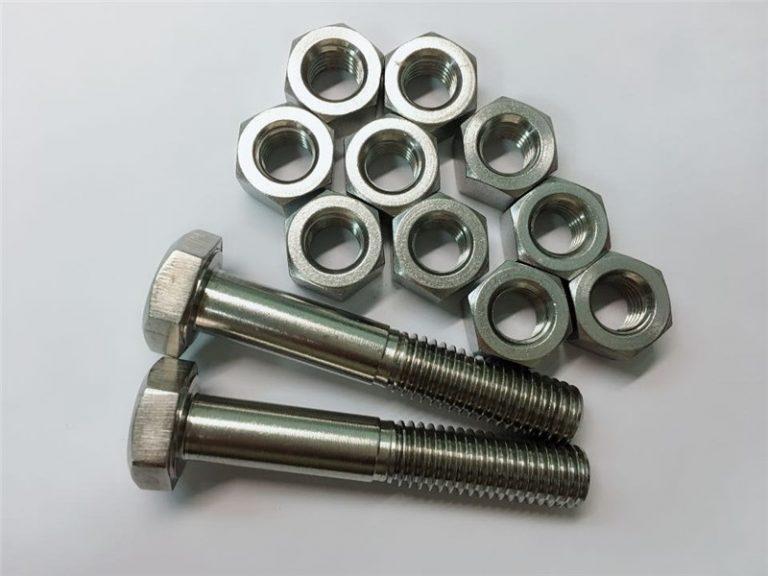bulloneria in lega 20 e dadi di fissaggio in acciaio inossidabile uns n08020