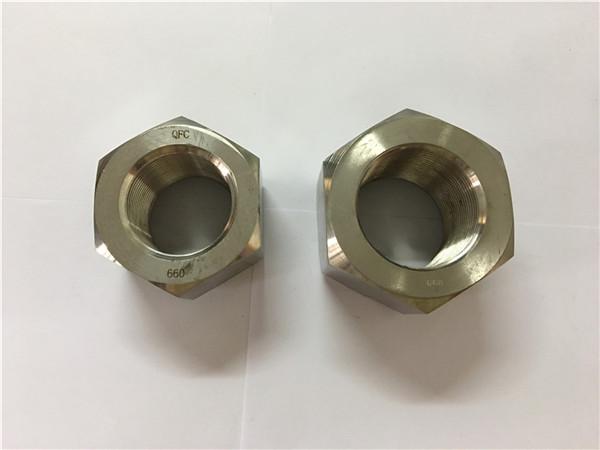 fabbricazione di dadi esagonali in lega di nichel a453 660 1.4980