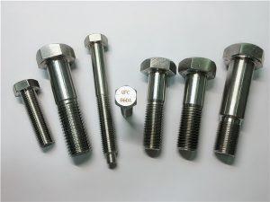 No.25-Incoloy a286 bulloni esagonali 1.4980 a286 elementi di fissaggio a vite per macchine hardware gh2132 in acciaio inossidabile