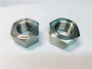 No.76 Duplex 2205 F53 1.4410 S32750 dadi esagonali pesanti in acciaio inossidabile